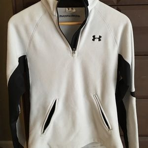 Women's Under Armour fleece pullover grey n black